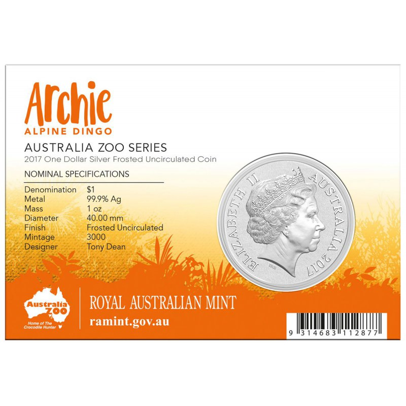 1 Oz Silver Alpine Dingo 2017 Aud 1 Goldsilver Be
