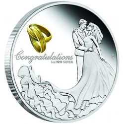Wedding 2017 1oz Silver Proof Coin