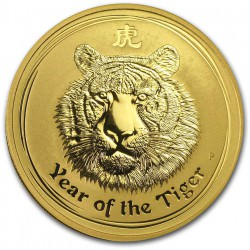 1 oz gold LUNAR TIGER 2010