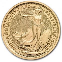 1/10 oz gold BRITANNIA 2016