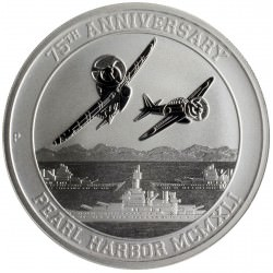 1 oz silver PEARL HARBOR 75th ANNIVERSARY