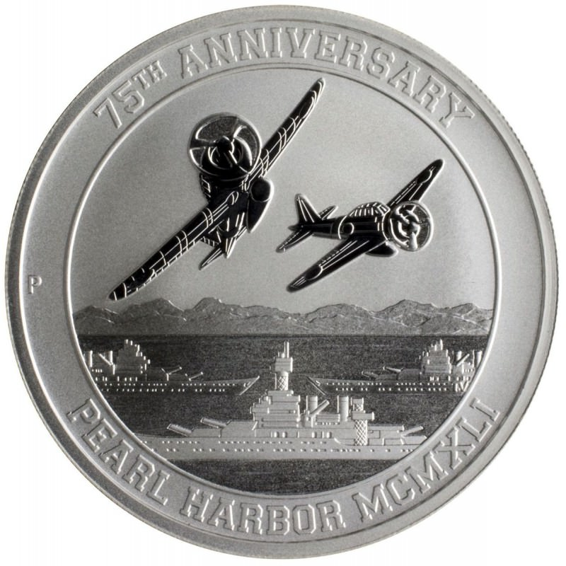 1 Oz Silver Pearl Harbor 75th Anniversary Goldsilver Be