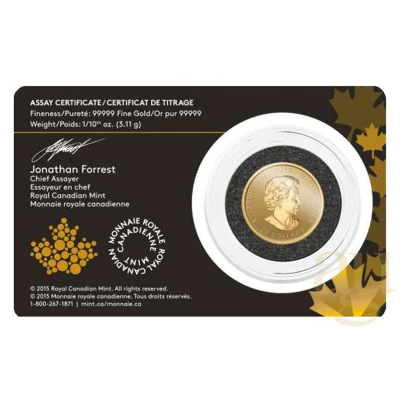 1 10 Oz Gold 2015 Cougar Essay Card Goldsilver Be