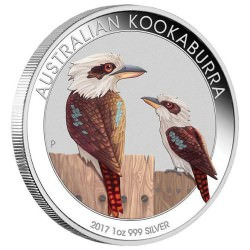 1 oz silver KOOKABURRA 2017 WMF SPECIAL COLORED $1