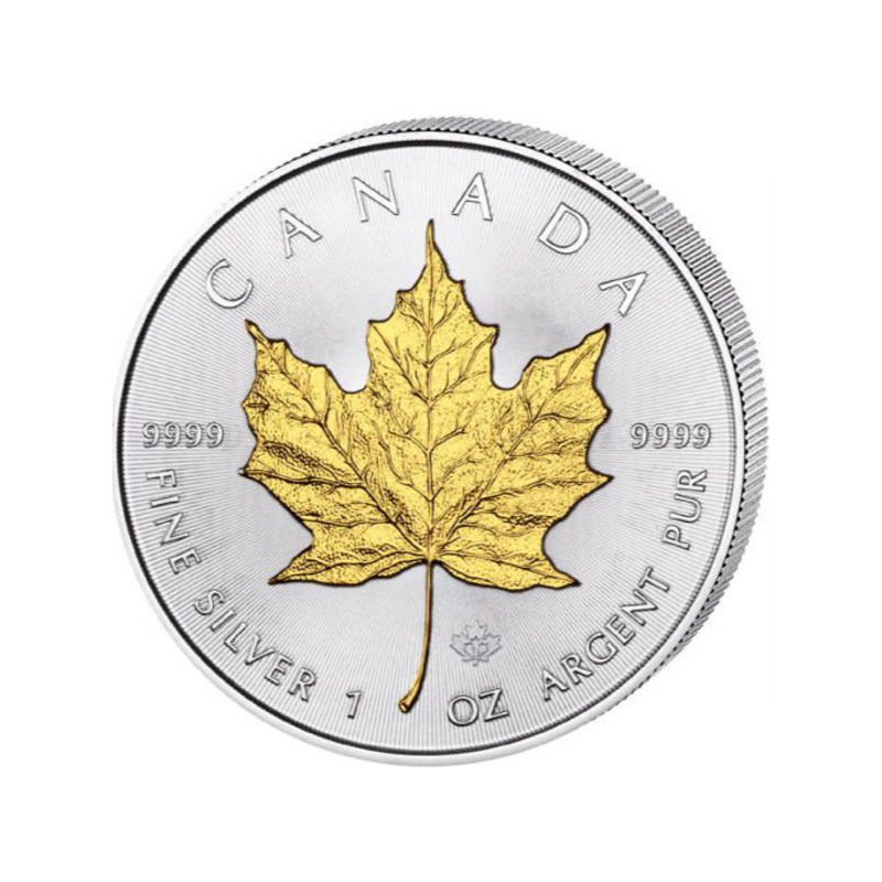 1 Oz Silver Maple Leaf 2017 Gilded Goldsilver Be