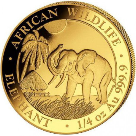 GOLD 1/4 oz ELEPHANT 2017 SOMALIA