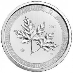 10 oz silver MAGNIFICENT MAPLE LEAF 2017