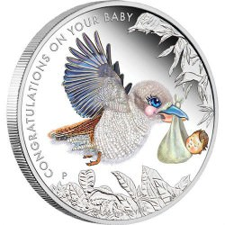 Newborn Baby 2015 1/2oz Silver Proof Coin