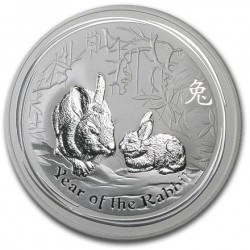 10 oz silver Lunar RABBIT 2011