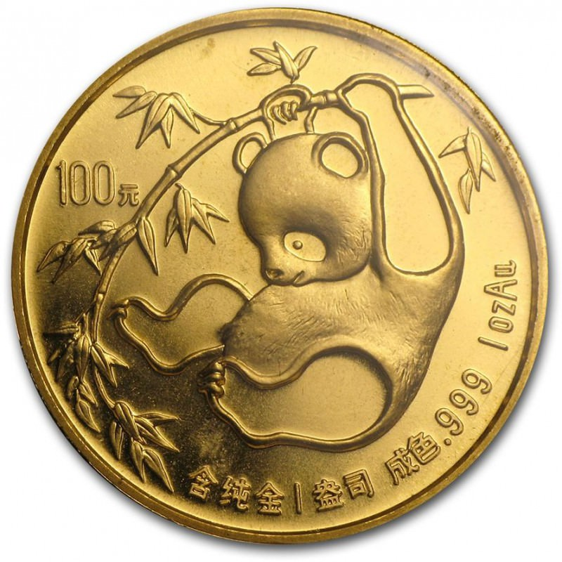 1 Oz Gold Panda 1985 Goldsilver Be