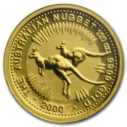 1/20 oz gold NUGGET KANGAROO 2003