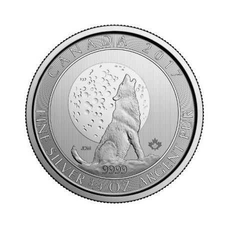 3/4 oz Canadian Silver Wolf Moon 2017