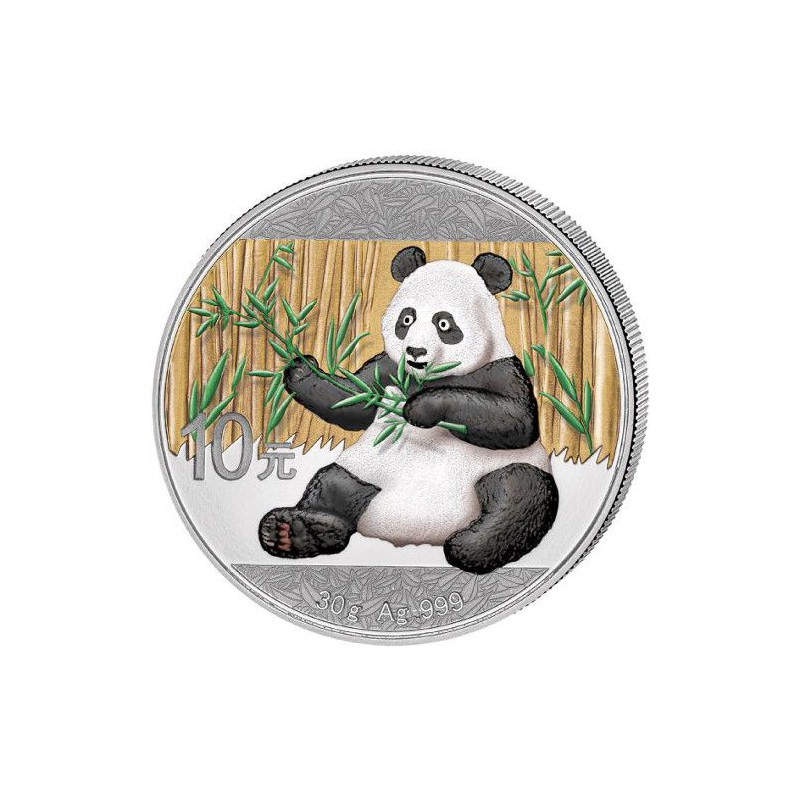 30 Gr Silver Panda 2017 Colored Goldsilver Be