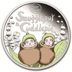 1/2 oz Silver Snugglepot and Cuddlepie Proof 2015