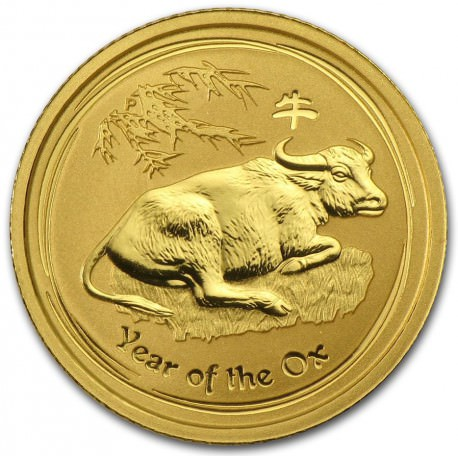 1/10 oz gold Lunar OX 2009