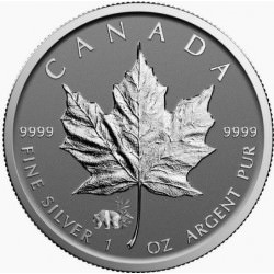 1 oz silver MAPLE LEAF 2017 privy panda