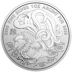 Canada 1 oz silver ROOSTER 2017