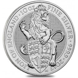 10 oz silver Queen's Beast 2017 LION of England