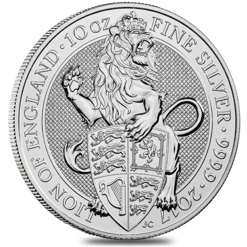 10 Oz Silver Queen S Beast 2017 Lion Of England