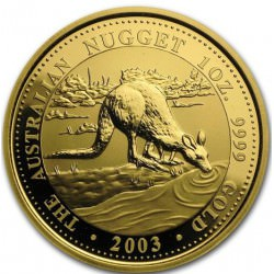 1 oz gold NUGGET 2003 KANGAROO