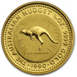 1/20 oz gold NUGGET 1990 Red Kangaroo