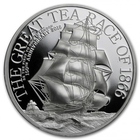 2oz silver 2016 THE GREAT TEA RACE High Relief