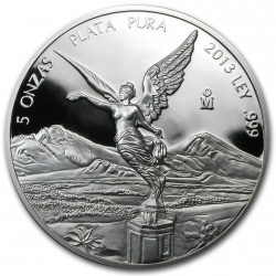 5 oz SILVER LIBERTAD 2013 Proof