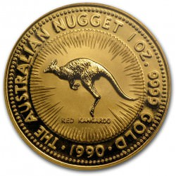 1 oz gold NUGGET 1990 RED KANGAROO