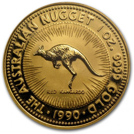 1 Oz Gold Nugget 1990 Red Kangaroo Goldsilver Be