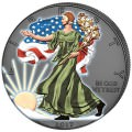 Out of Dark - 4 Seasons Silver WALKING LIBERTY Coins set $1 USA 2017