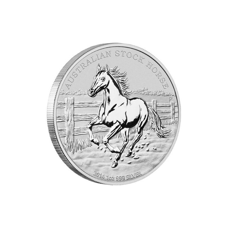 1 Oz Silver Australian Stock Horse 2014 Goldsilver Be