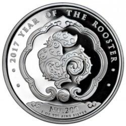 1 oz silver KINGDOM OF BHUTAN 2017 Rooster