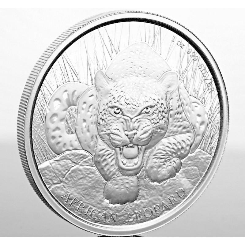 1 Oz Silver 5 Cedis Ghana Leopard 2017 Goldsilver Be
