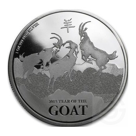 1 oz silver GOAT NEW ZEALAND 2015