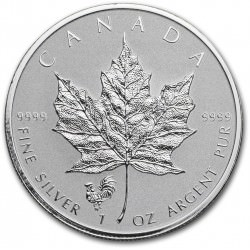 1 oz silver MAPLE LEAF 2017 privy Rooster