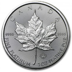 1 oz PLATINIUM PLATINUM MAPLE LEAF $50