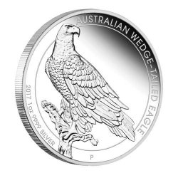 1 oz silver WEDGE-TAILED EAGLE 2017 PROOF Box+coa