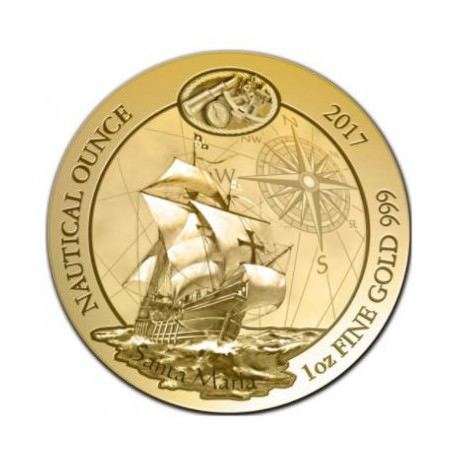 1 oz gold RWANDA NAUTICAL 2017 SANTA MARIA