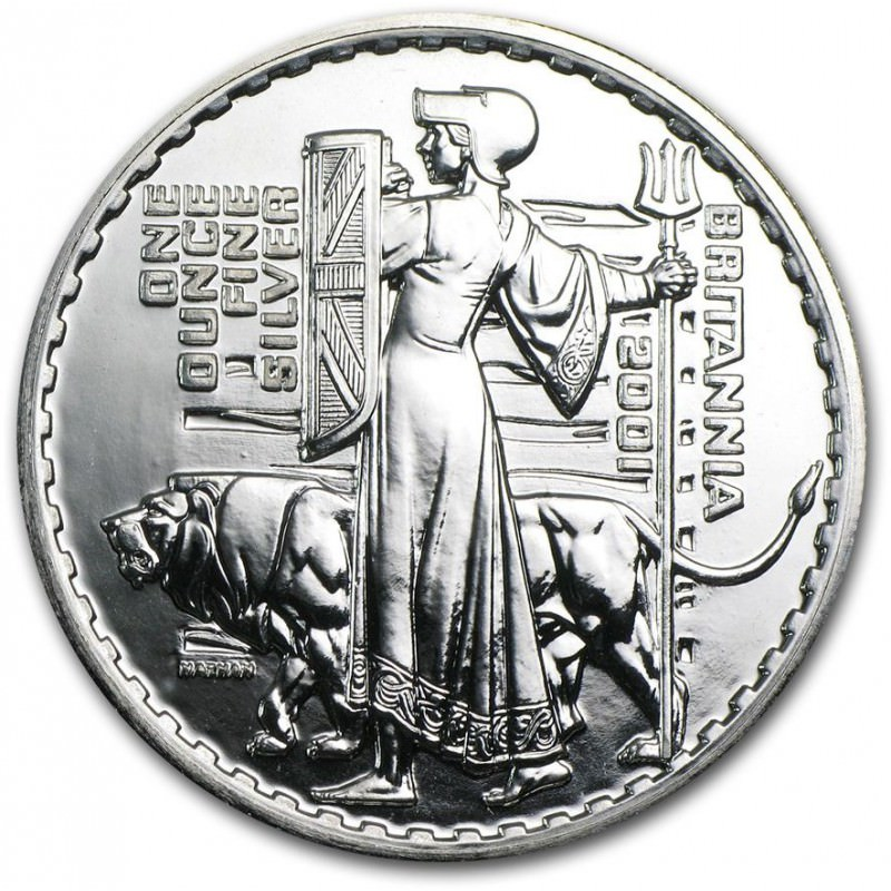 1 Oz Silver Britannia 2001 Goldsilver Be
