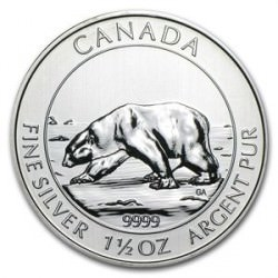 Silver 1 1/2 oz POLAR BEAR 2013