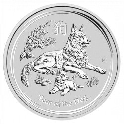 2 oz silver LUNAR DOG 2018