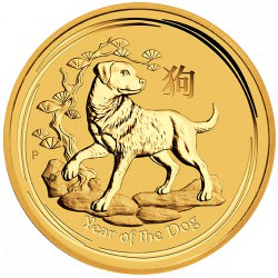 1/4 oz gold LUNAR DOG 2018