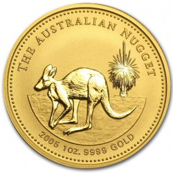 1 oz gold NUGGET 2005 KANGAROO