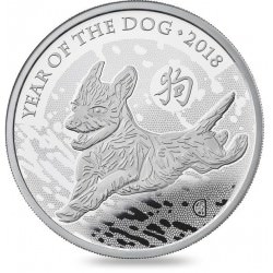 1 oz silver UK DOG 2018