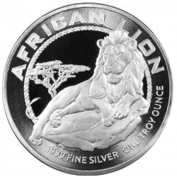 1 oz silver Niue LION 2017