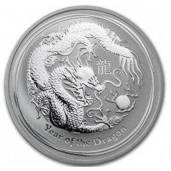 2 oz LUNAR DRAGON 2012