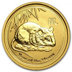 1/10 oz gold LUNAR RAT 2017 MOUSE