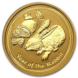 1/4 oz gold LUNAR RABBIT 2008