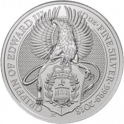 10 oz silver Queen's Beast 2018 GRIFFIN