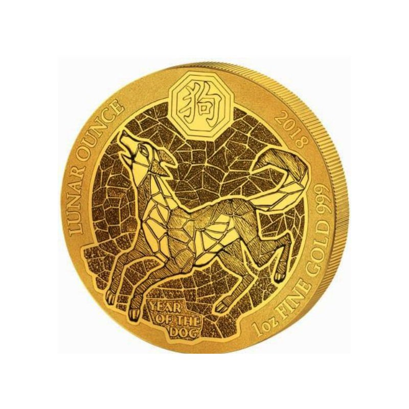 1 Oz Gold Rwanda Dog 2018 Goldsilver Be